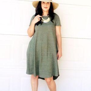 LuLaRoe Heather Green Carly Dress